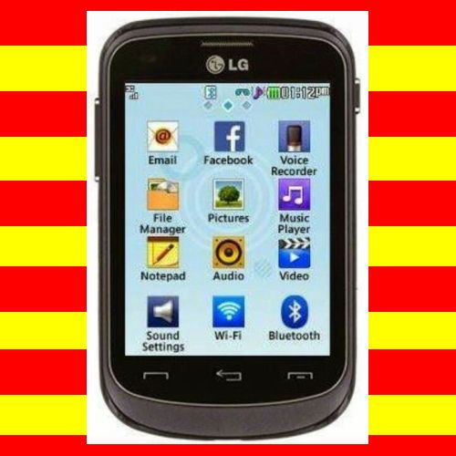 tracfone lg 306g cell phone black brand new no contract free