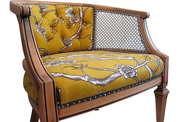 Modern Chic Vintage French Barrel Chair
