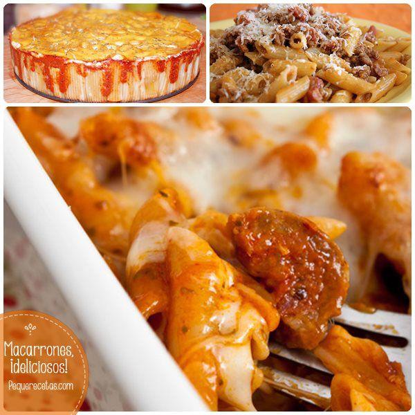 Macarrones, 6 recetas de pasta ¡buenísimas!