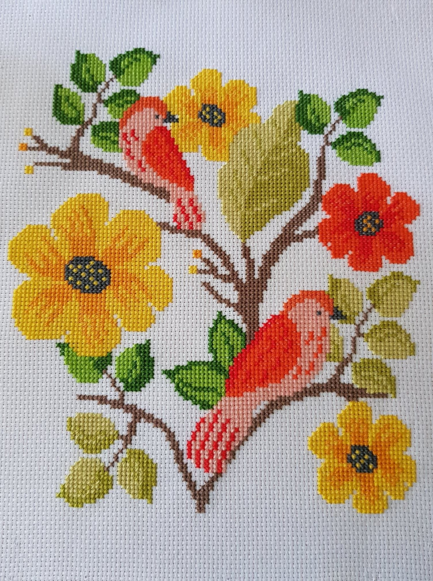 Stitched version of my cross stitch pattern