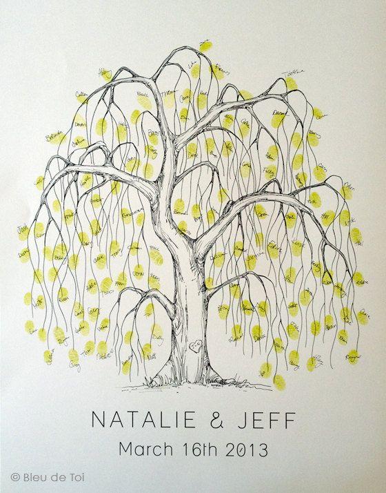 Wedding Guest Book Alternative, unique guestbook, Medium Willow Tree ...