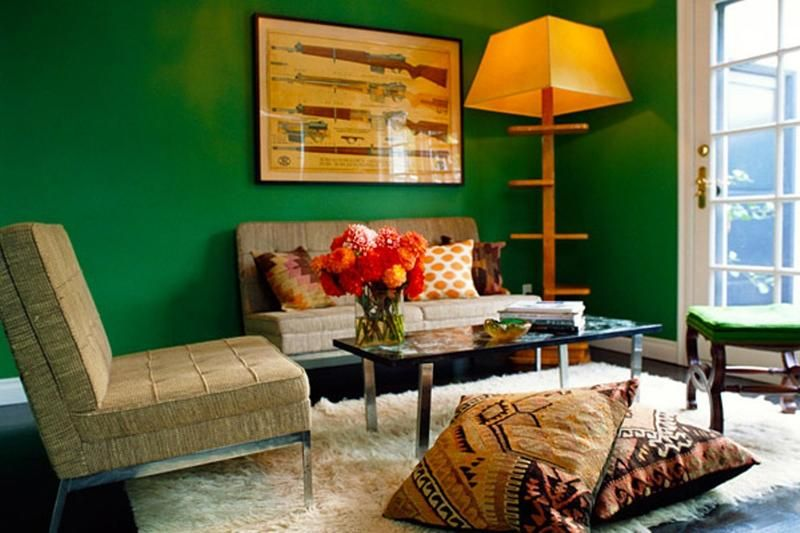 Dazzling Living Rooms with White Flokati Rug - Rilane
