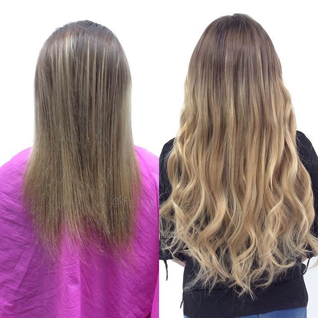 Sew In Hair With Brazilian Hairextensions Sewn In Hair Extensions