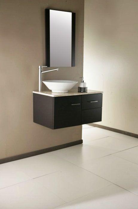 Lavabos para baños con mueble empotrado u2013 sin patas