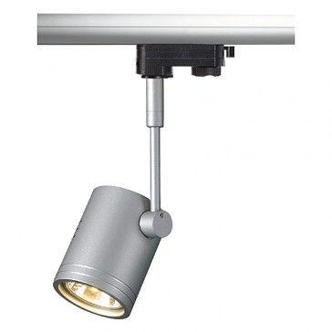 BIMA I Leuchtenkopf, silbergrau, GU10, 1x50W max., inkl. 3P.-Adapter, / LED24-LED Shop