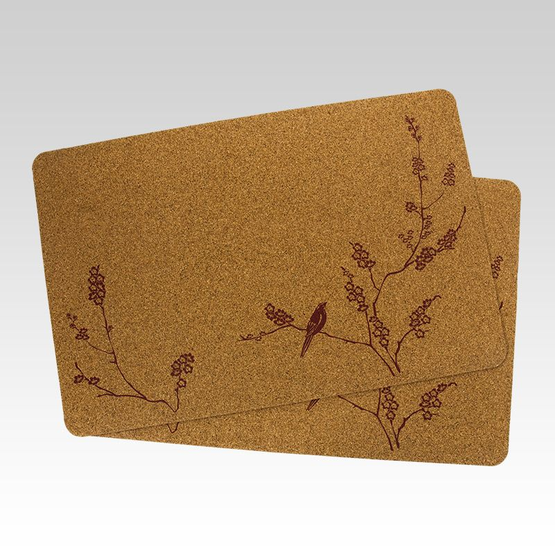 Cork Placemats 11 75 X 17 5 X 1 8 Inch Placemats Kitchen Placemats Bird Prints