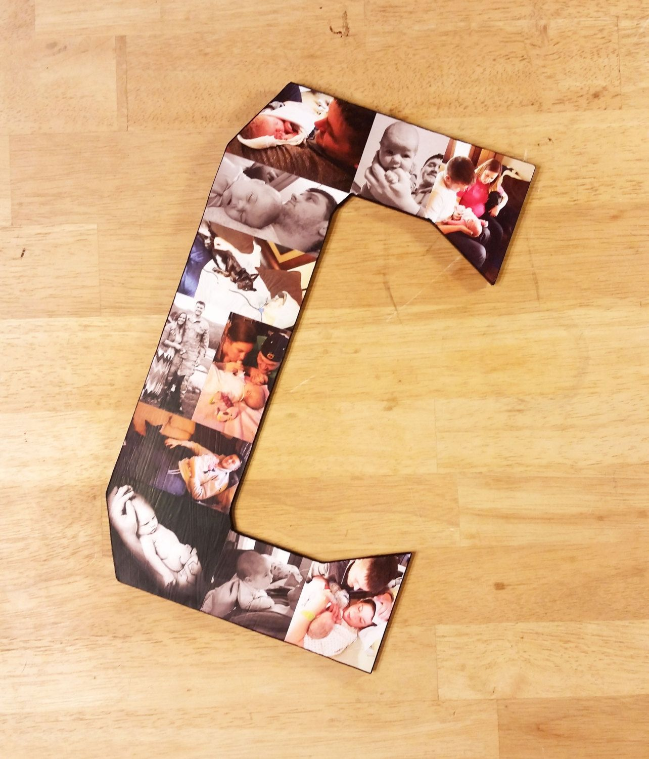 Custom Photo Collage, Letter Photo Collage, Wall Art, Personal ...