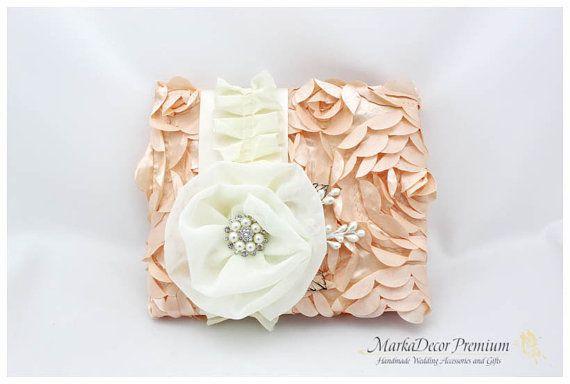 Wedding Lace Guest Book Custom Jeweled Bridal by MarkadecorPremium, $70.00