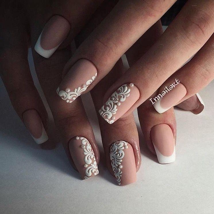 Uñas Mandala Blanco Hermosas Mira Más En Mi Tablero Nails