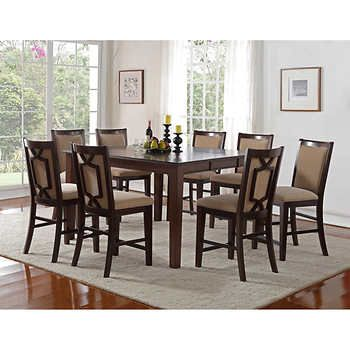 Stratton 9-piece Counter-Height Dining Set