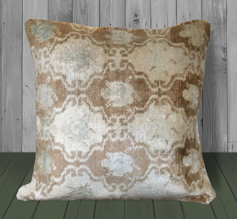 20x20 Pillow Cover~Beige Throw Pillow