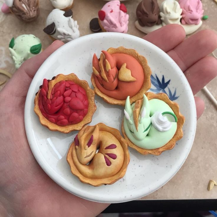 Loving These Little Clay Dragon Pies How Creative Clay Dragon