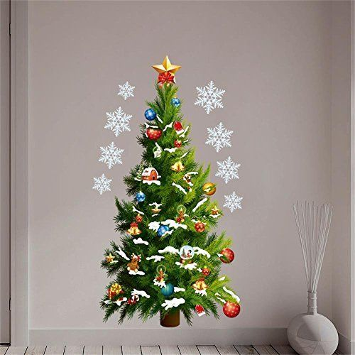Ainest Christmas Tree Gift Kids Room Decor Wall Sticker Xmas Tree