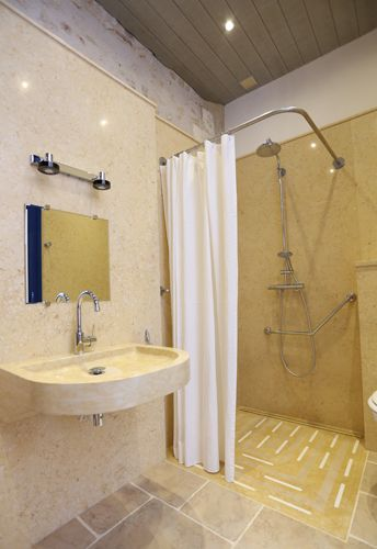 tringle-rideau-douche-italienne-handicape-pmr | sdb | Pinterest ...