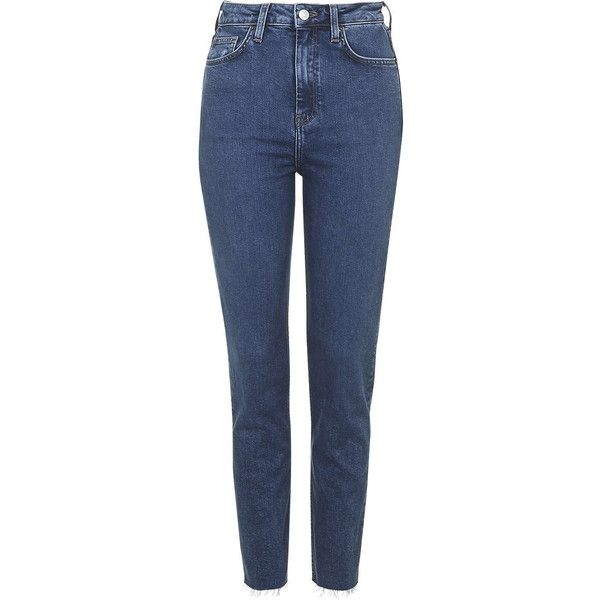 TOPSHOP MOTO Bright Blue Binx Jeans (€41) ❤ liked on Polyvore