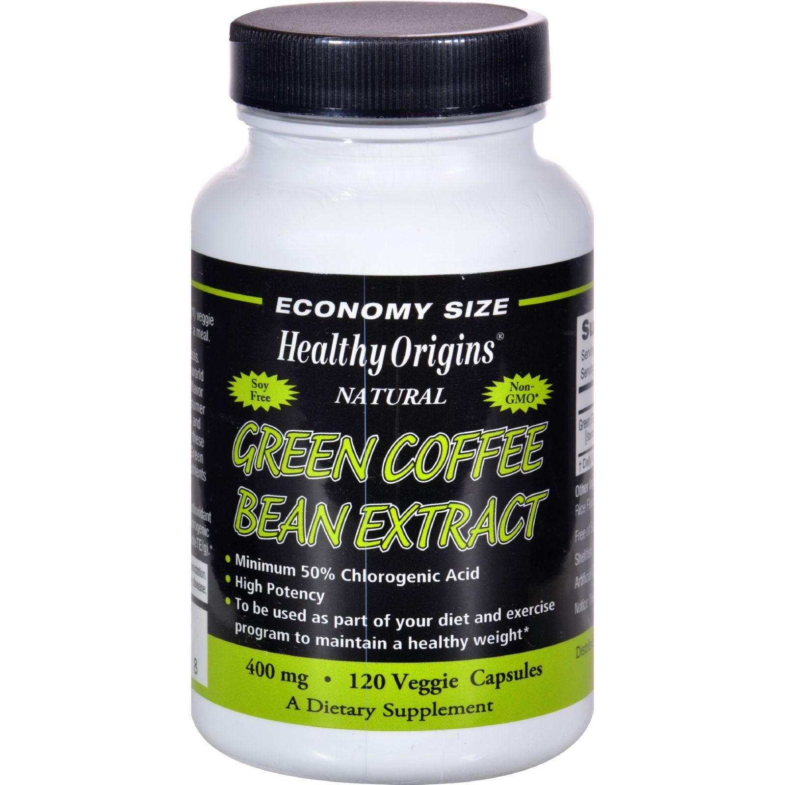 Healthy Origins Green Coffee Bean Extract 400 Mg - 120 Vcaps
