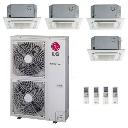 Lg 54k Btu Multi F Quad Zone Ceiling Cassette Ductless Mini Split