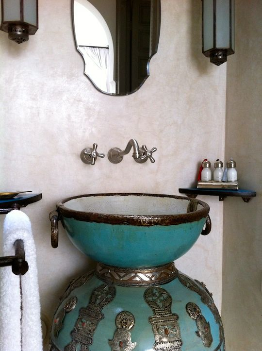 fascinating moroccan style bathroom | 27 Tadelakt Bathroom Design Ideas | Moroccan decor, Decor ...