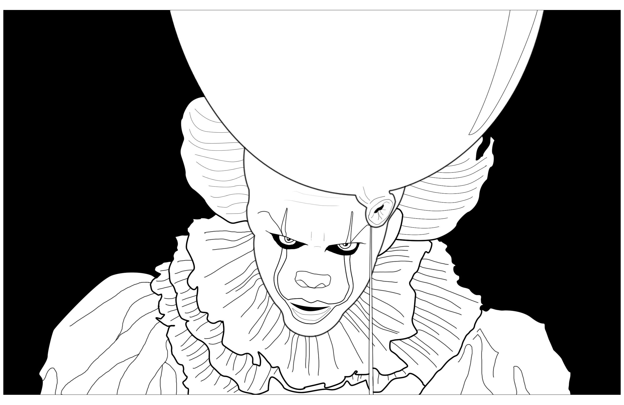 Image Result For Pennywise Coloring Sheet Halloween Coloring Pages Coloring Pages Halloween Coloring
