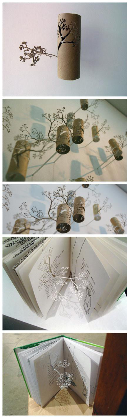 rollos de papel y creativos