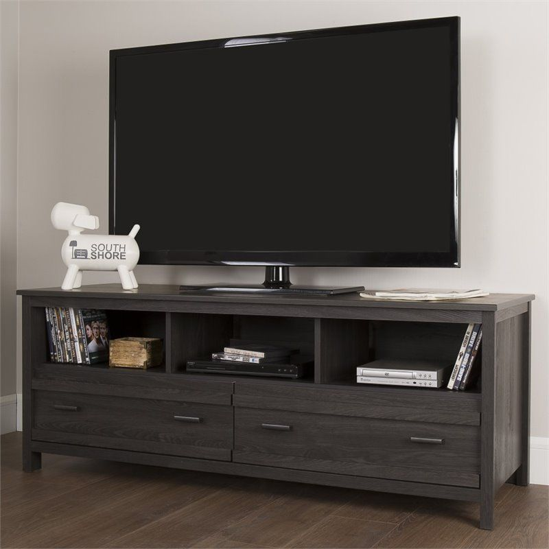 South Shore Exhibit 60 Tv Stand In Gray Oak In 2019 Home Decor