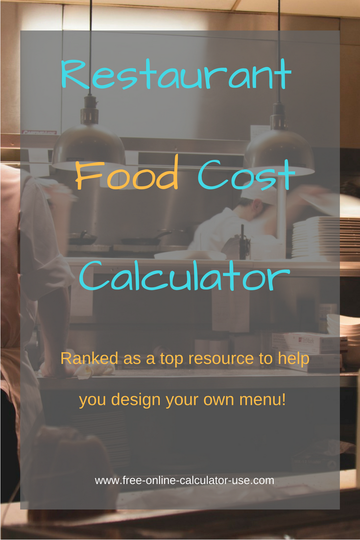 Restaurant food cost calculator for portion and menu costing restaurant food cost calculator for portion and menu costing forumfinder Gallery