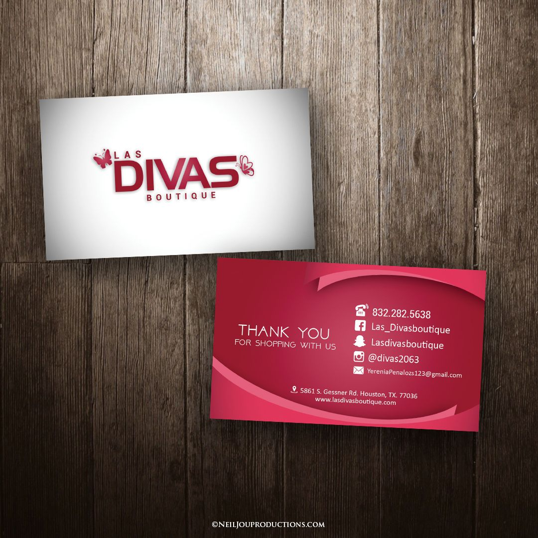 Latest Business Card Design For Divas Boutique Are You Choosing A