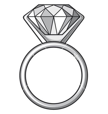 Diamond Ring Ring With Diamond Vector Image On Diamond Vector