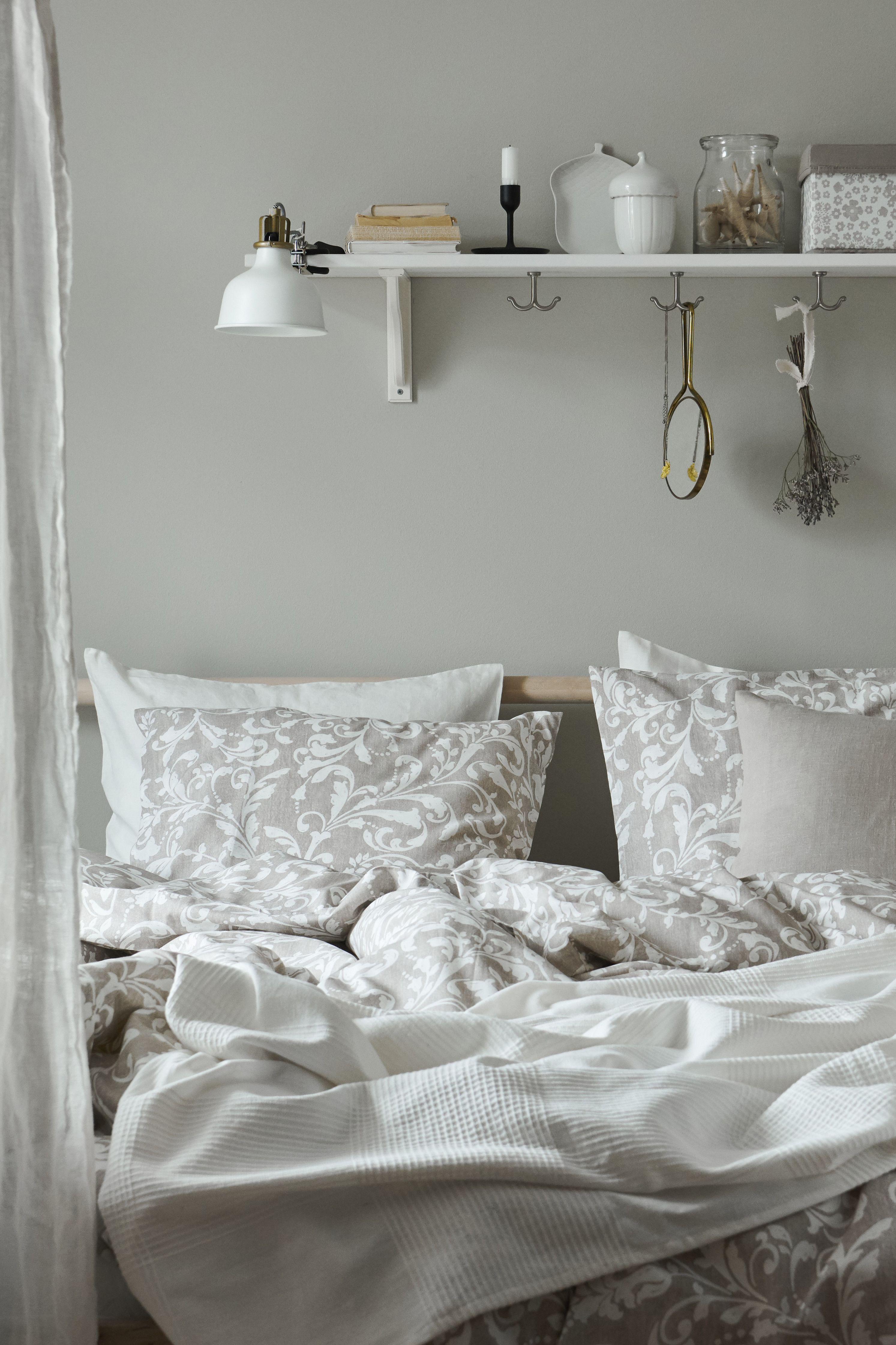 Bettwäscheset 2 Teilig Jättevallmo Weiß Grau Home Schlafzimmer