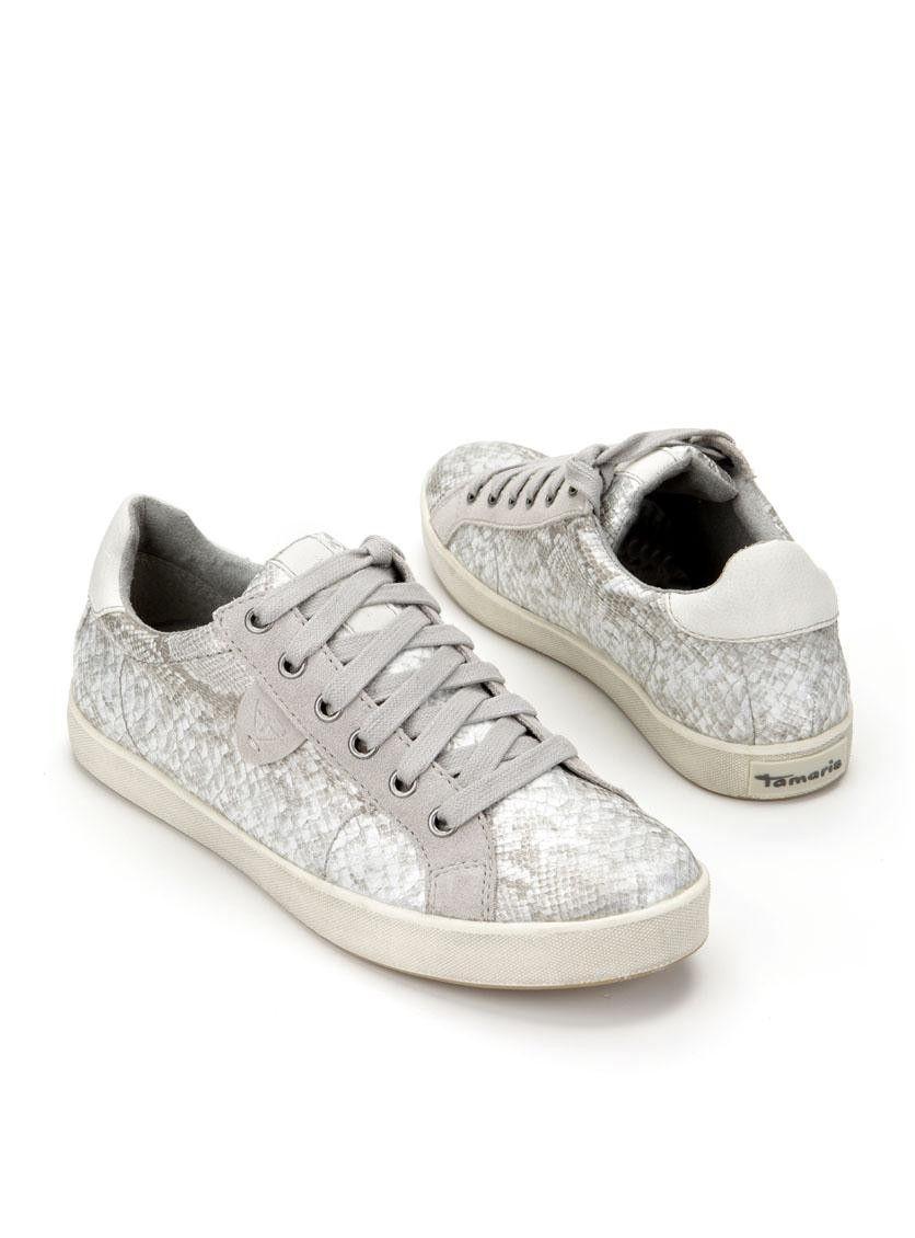 Zilverkleurige 23600Durlinger Damessneakers Schoenen Met Tamaris 1JcFTlK