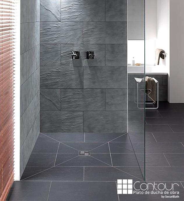 Platos de ducha de obra contour prefabricados y modulares for Duchas modernas de obra