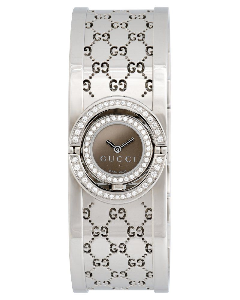 27fc7fe24d0 Gucci Diamond 112 Twirl Bangle Ladies Watch - YA112504