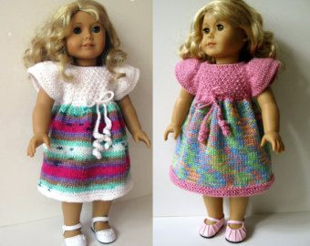 Cotton Candy Knitting Pattern for AMERICAN GIRL 18 von KNITnPLAY