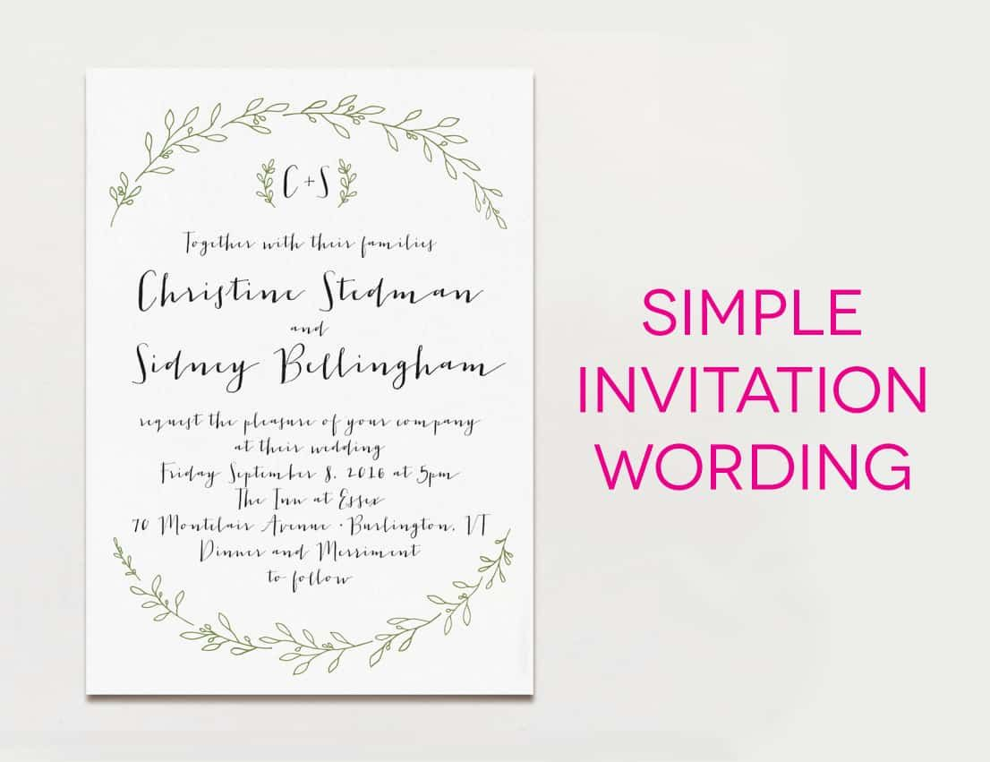 cool Tips Easy to Create Informal Wedding Invitation Wording Free ...