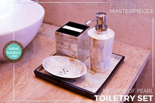 Be a trendsetter even in the bathroom. #MotherOfPearl #Classic #India #Handcrafted #Hadmade