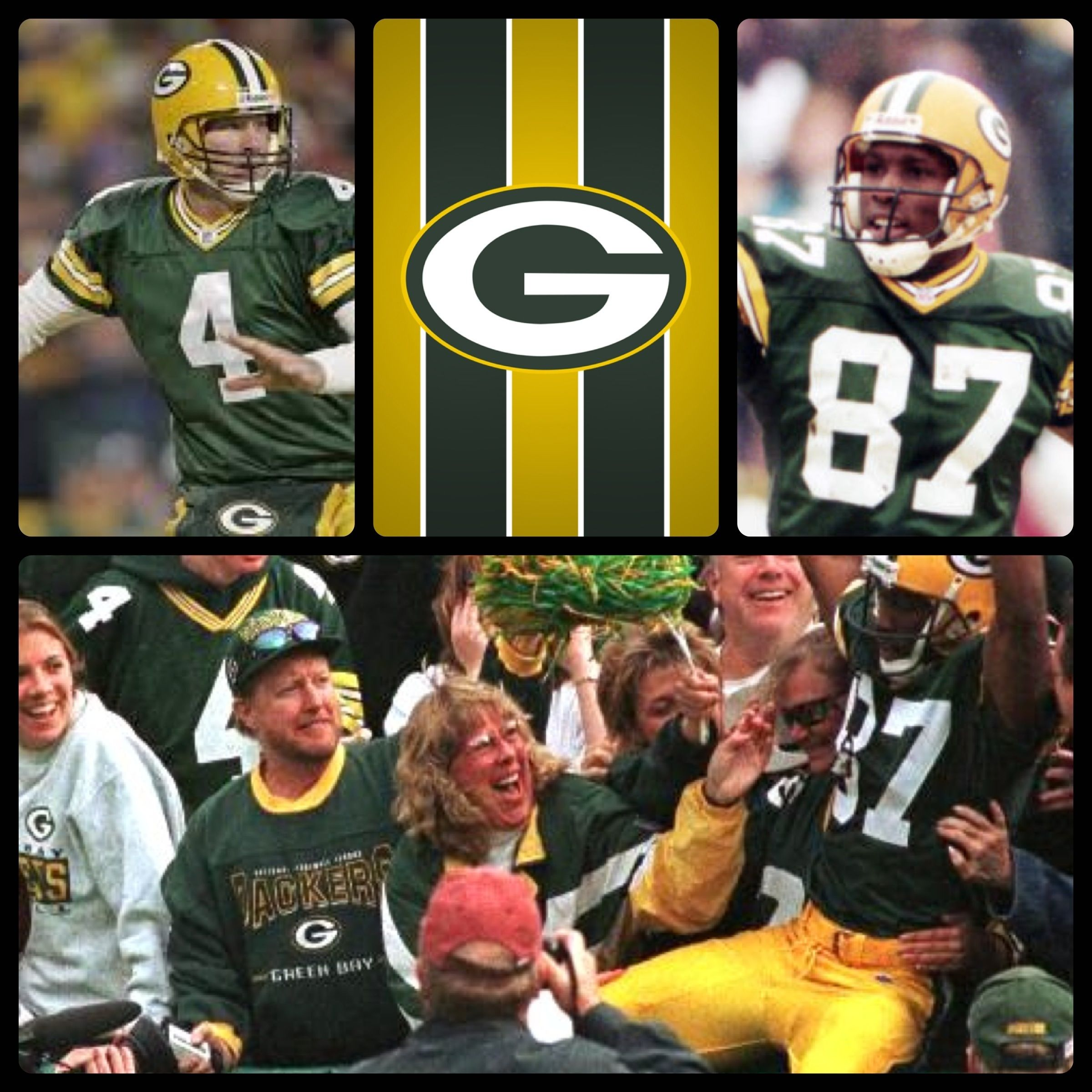 This Day In Football History September 11 1999 Brett Favre And Robert Brooks Of The Green Bay Packers Packers Football Green Bay Football Green Bay Packers