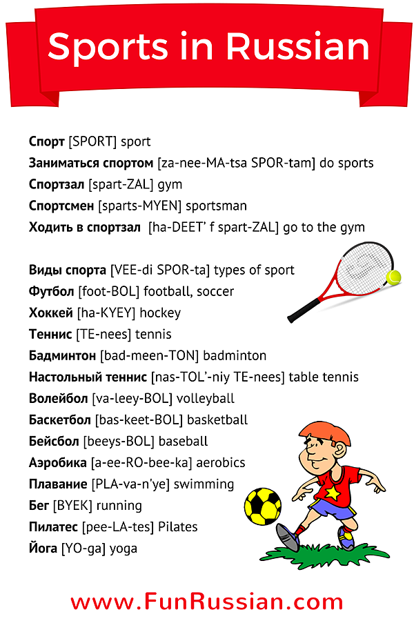 New Russian Lesson Sports In Learn With Www Funrussian