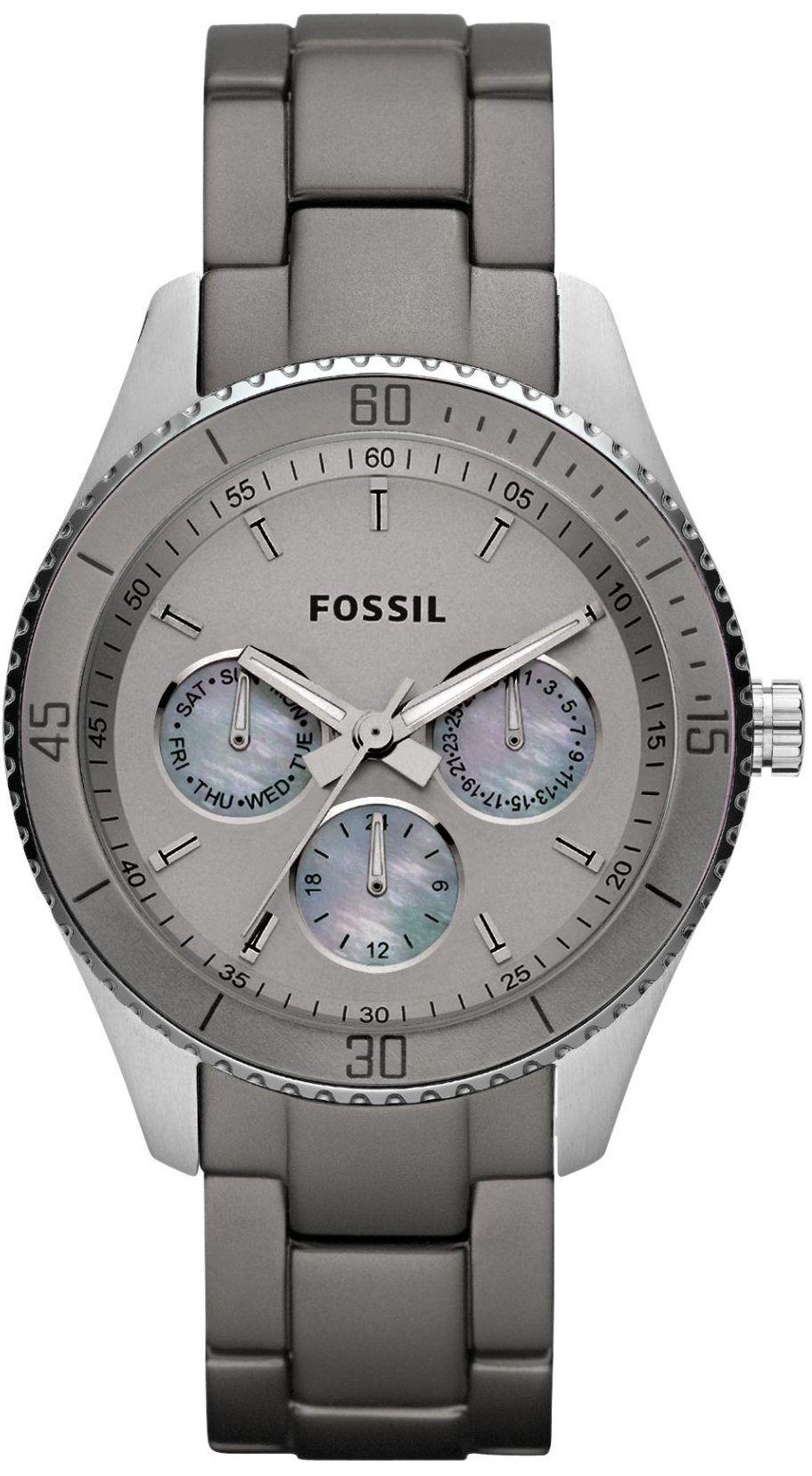 f8cc9ce23c4 Amazon.com  Fossil Women s ES3040 Stella Grey Aluminum and Stainless Steel  Watch  Fossil  Watches. Acessórios FemininosBijuteriasFemininaBelezaRelógios  ...