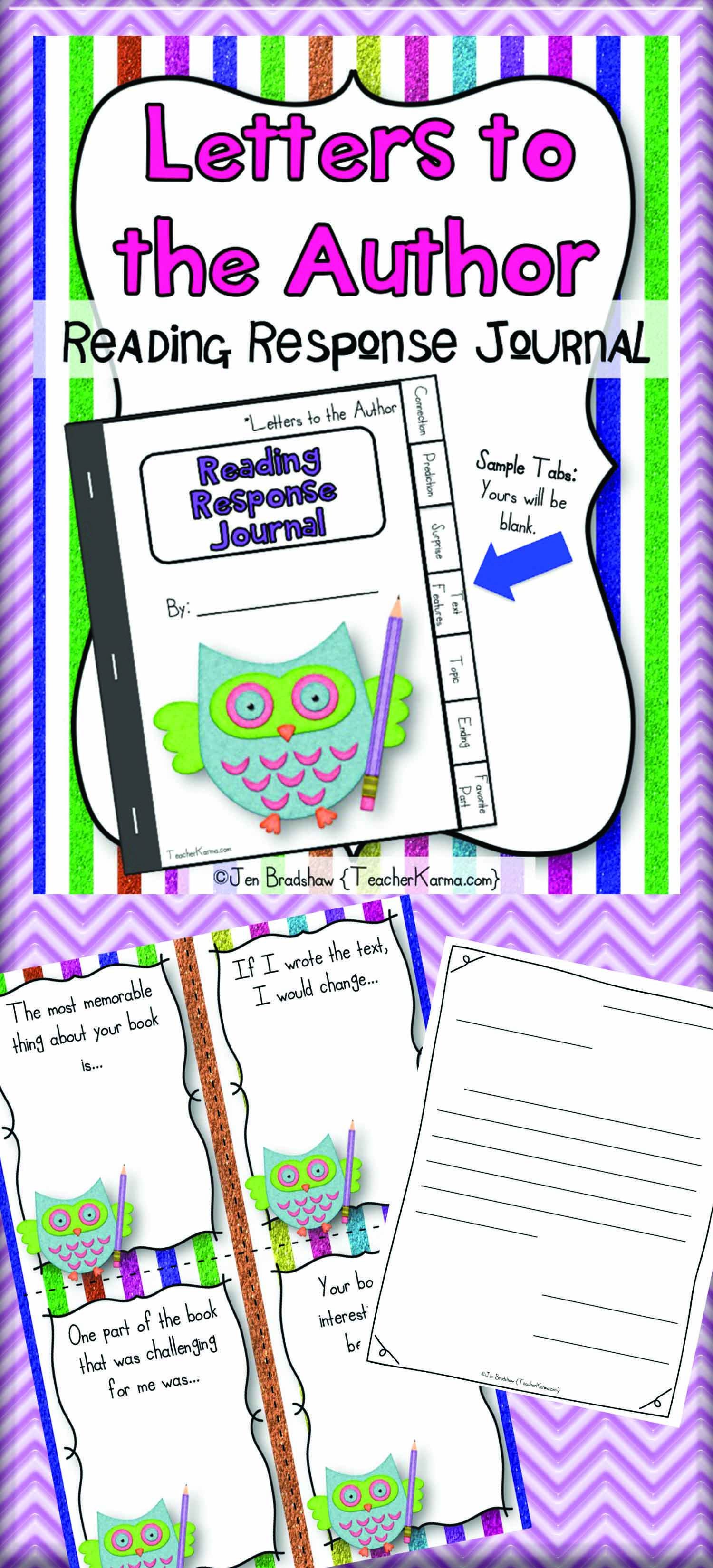 Interactive Reading Booklet Response Journal Letters