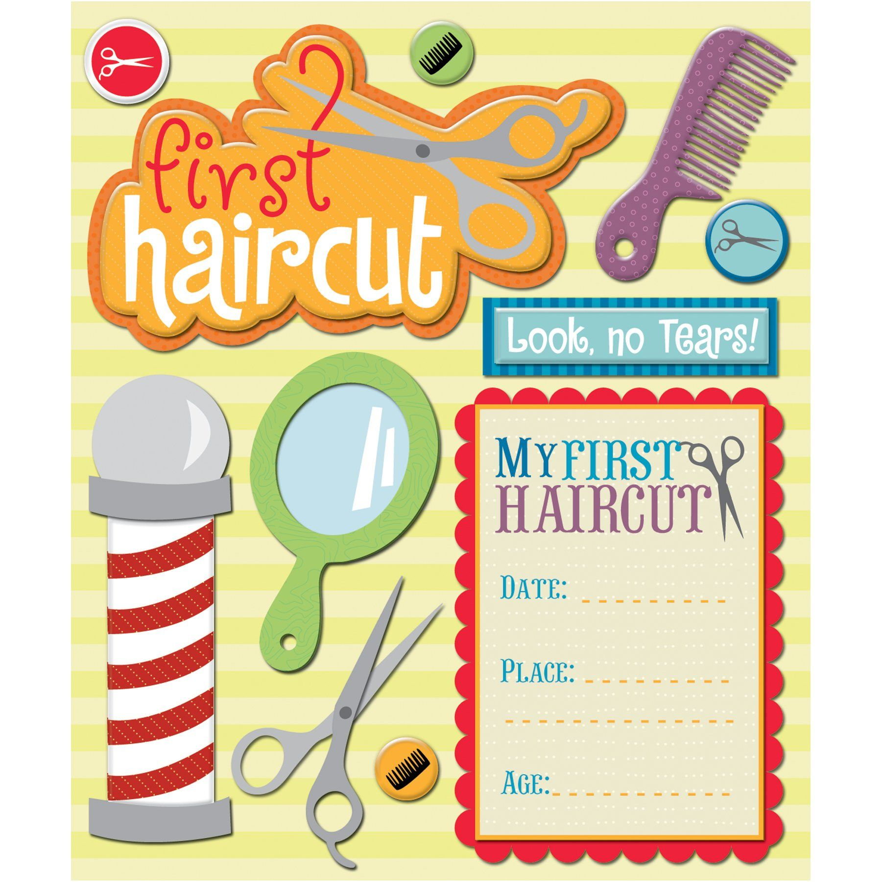 K Company First Haircut Sticker Medley Scrappin Pinterest