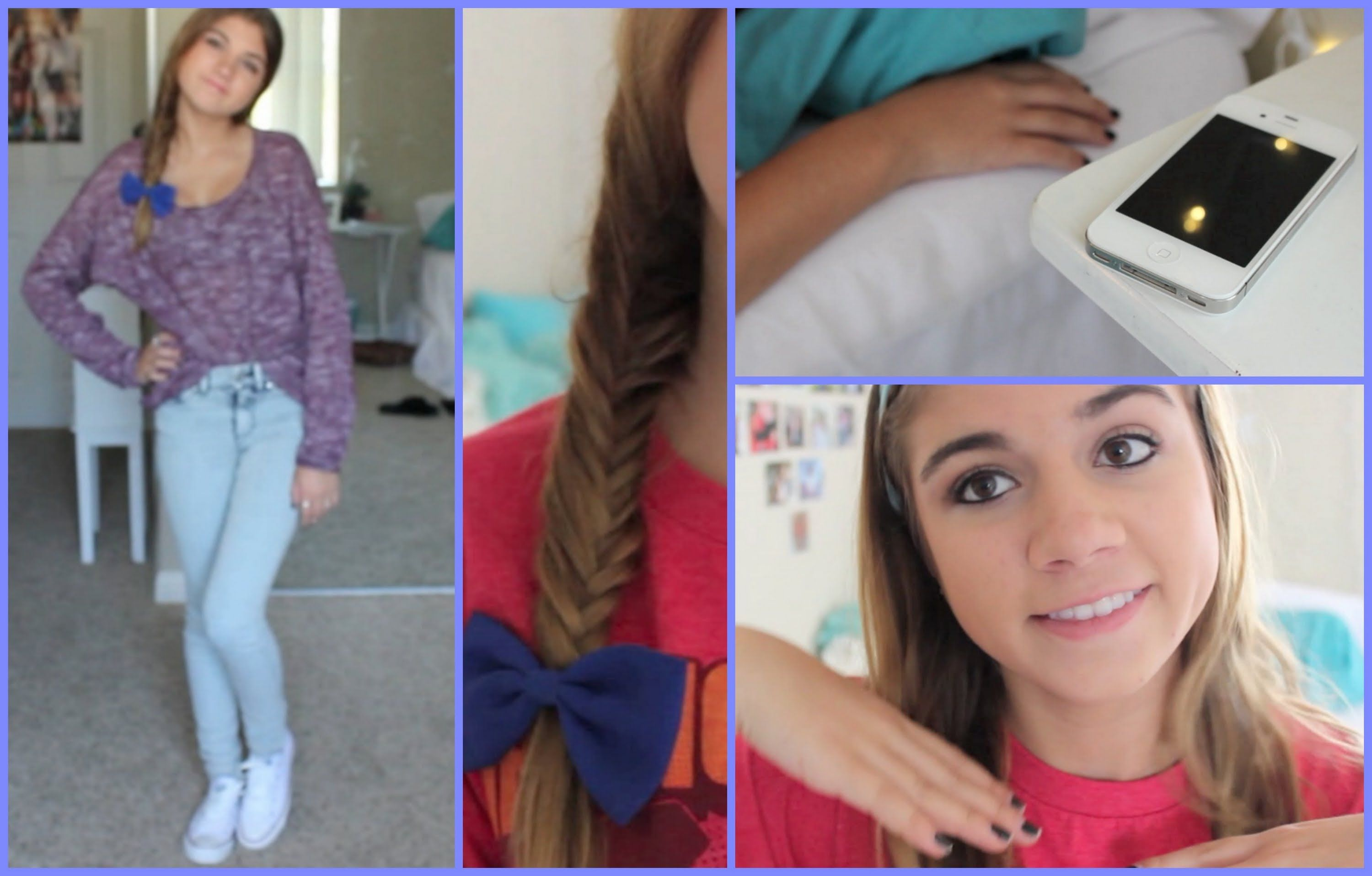 Go And Watch Her Back To School Hair Makeup Outfit Video Now