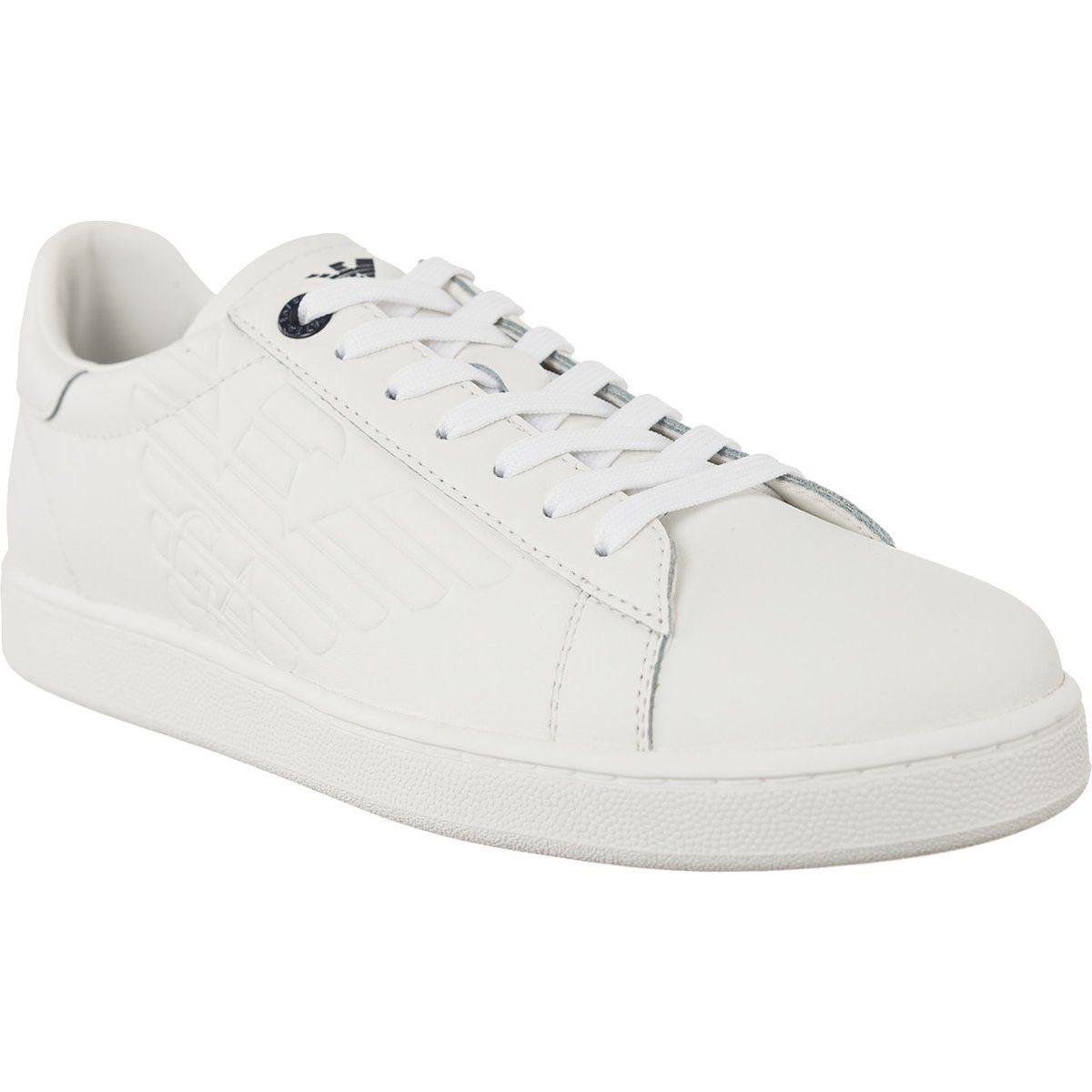 Trampki Meskie Ea7emporioarmani Ea7 Emporio Armani Biale Leather Sneaker 248028cc299 00010 Sneakers White Sneaker Emporio Armani