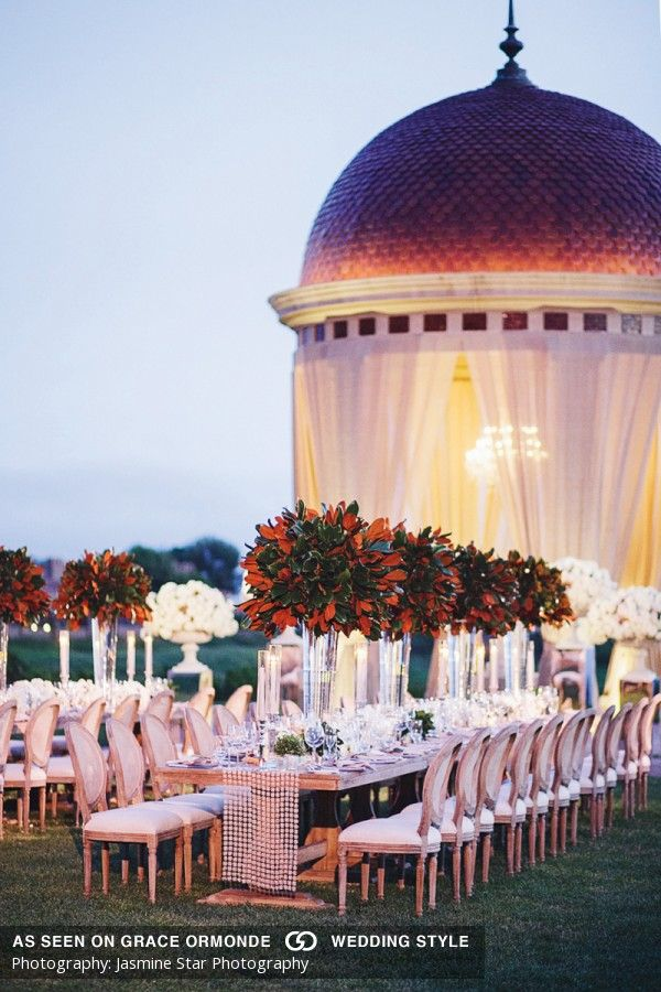 Luxury Outdoor Wedding Reception At Pelican Hill Destination