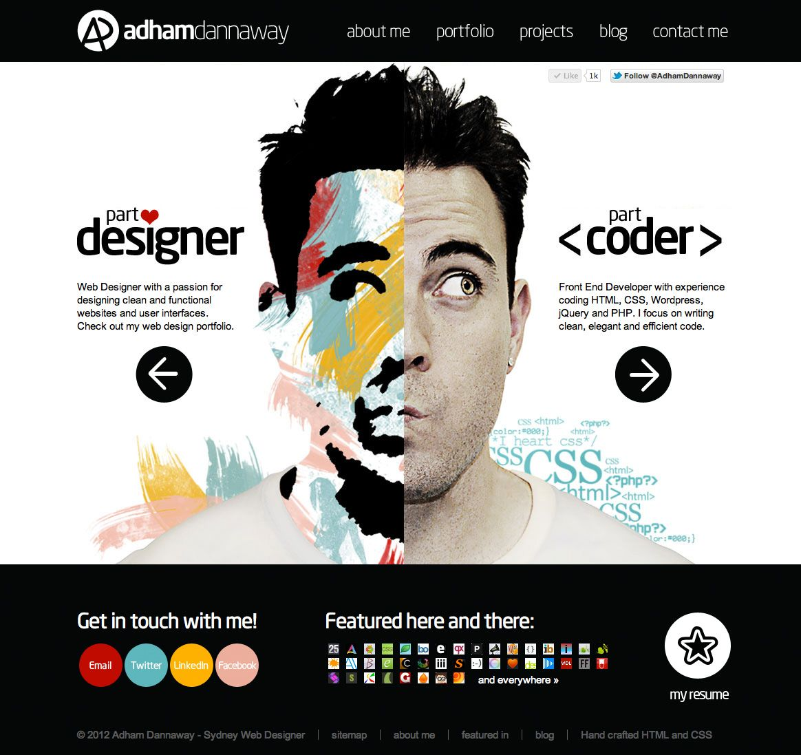 Design Portfolio Of Adham Dannaway Portfolio Web Design Portfolio Website Design Portfolio Design