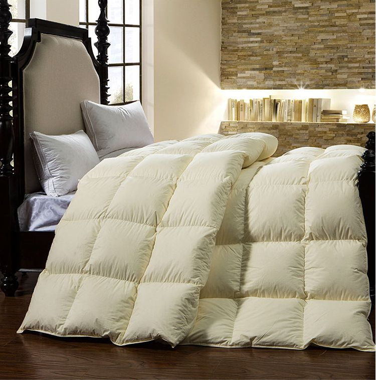 Pure cotton 95% white goose down quilt king queen full twin size Luxurious warm winter comforter ...