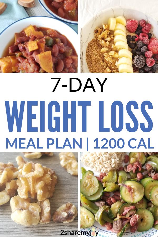 Photo of 7-Tage 1200 Vegan Vegan Weight Loss Meal Plan