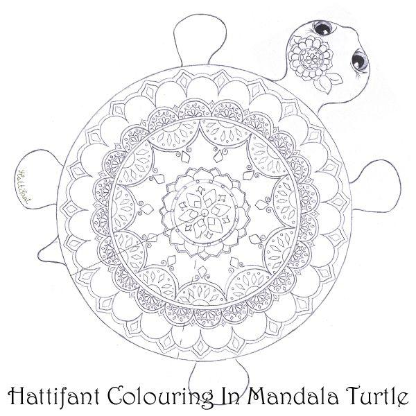 Mandala Turtle Rare Species Coloring Papercraft Turtle