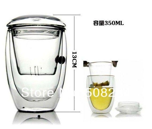 Novelty ts 2sets lot Bodum Double Wall Glass tea strainer 350ml