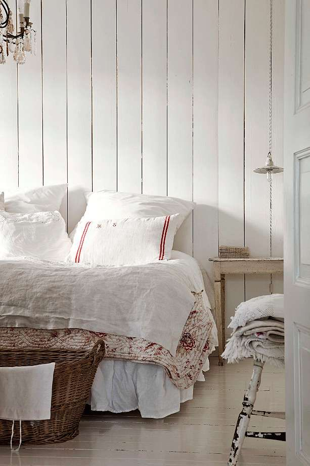 Shabby chic interiors stile nordico decorazione camera for Arredamento svedese
