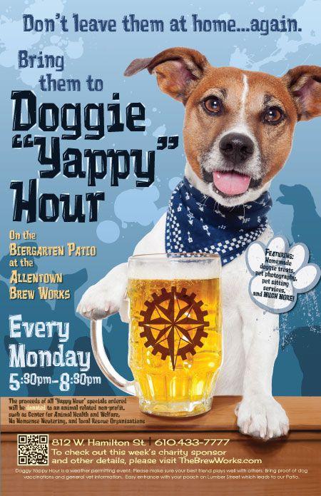 Doggie Yappy Hour Dog Fundraiser Pet Adoption Event Animal